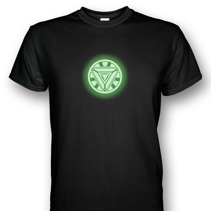 68a1e0b16 Iron Man Arc Reactor Mark 6 Glows In The Dark V2 T-shirt. ‹ ›