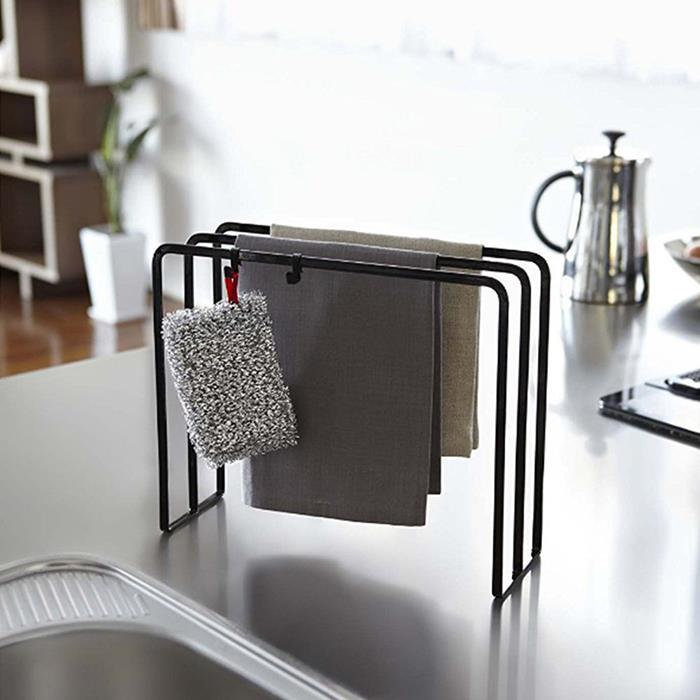 Iron Metal 3 Tier Dish Towel Holder Towel Dryer Kitchen Toilet Utensil