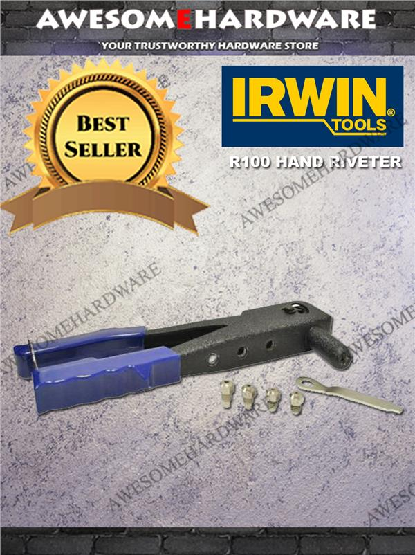 IRWIN R100 HAND RIVETER WITH 4 TIPS