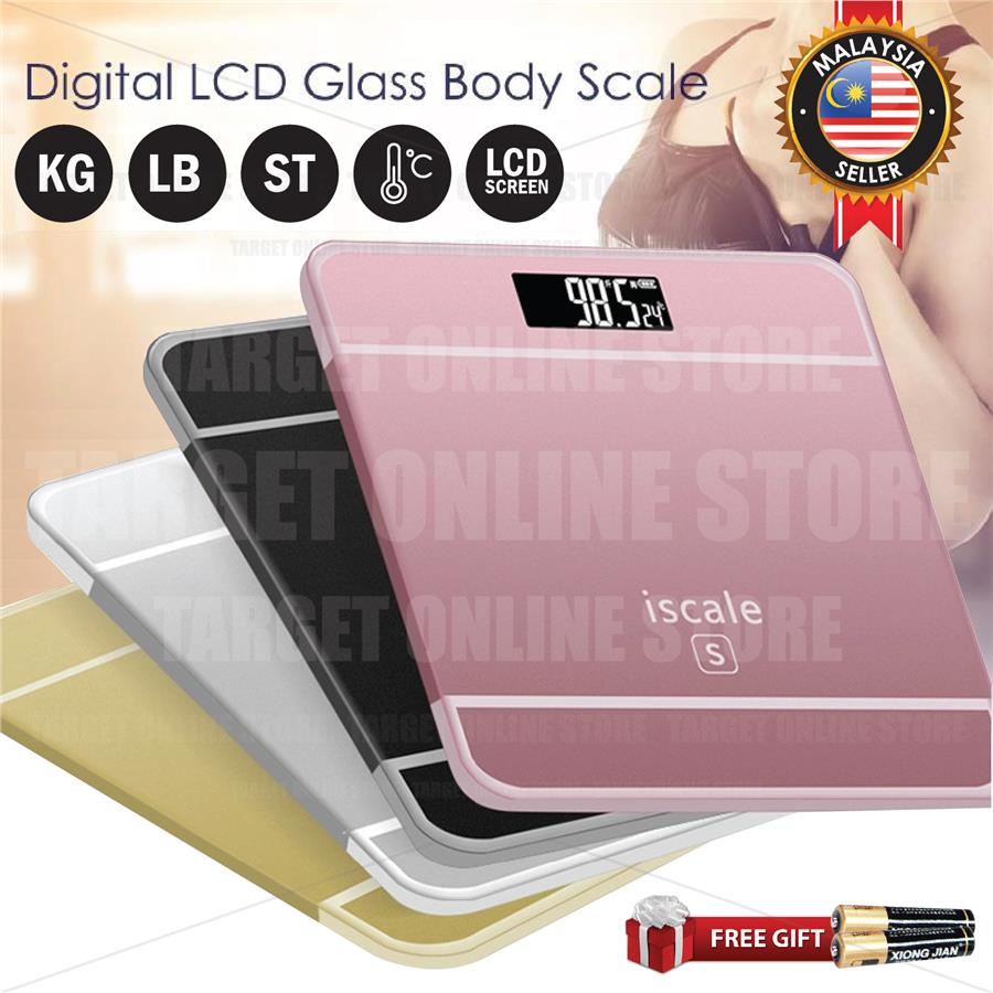 iScale S Health Personal Weight Body Scale LCD Digital Screen Bathroom