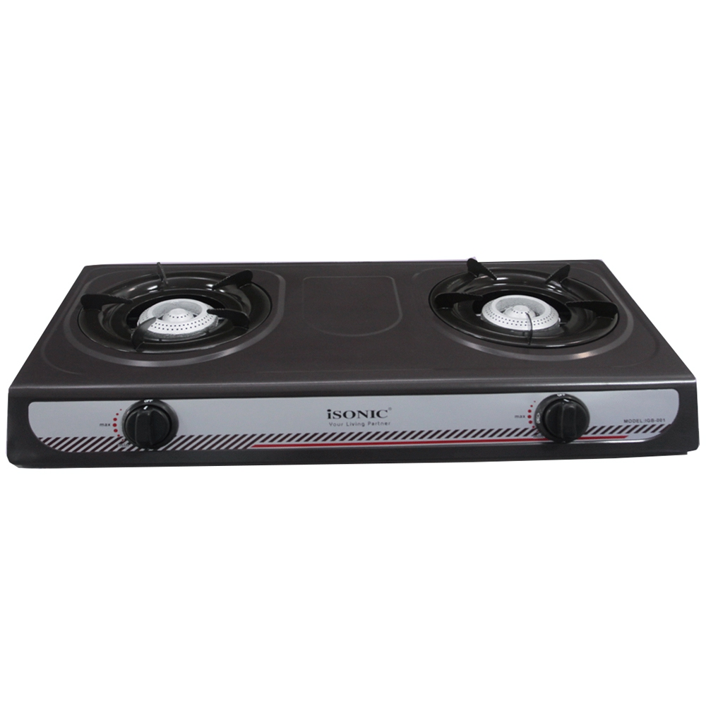 Isonic Double Burner Gas Stove Random Color Black Blue Iso Igb 001