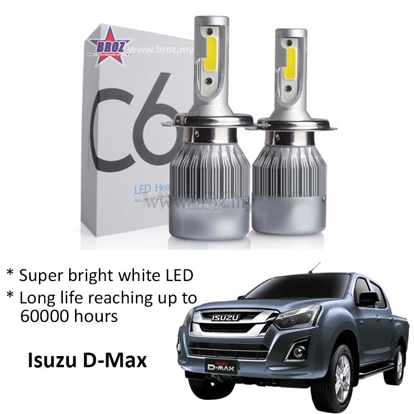 Isuzu D-Max Head Lamp C6 LED Light Car Auto Head light Lamp 6500K