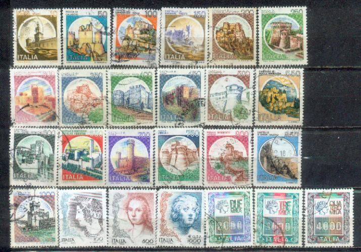 Italy 25 Nice Stamps