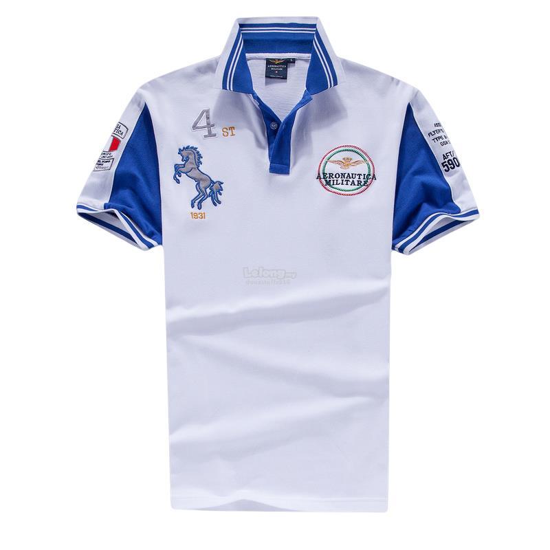 fe59a67ea51e Italy Aeronautica Militare Air Force Men Pilot 4st POLO T-Shirt