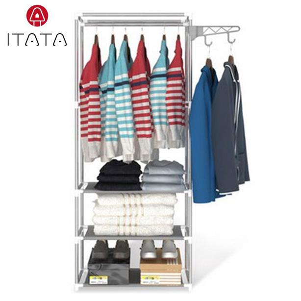 ITATA Wardrobe Storage Stain less Steel Cabinet Home and Living Rack