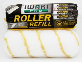 "IWAKI-PRO ACRYLIC Paint Roller Refill 7"" for Interior Wall"