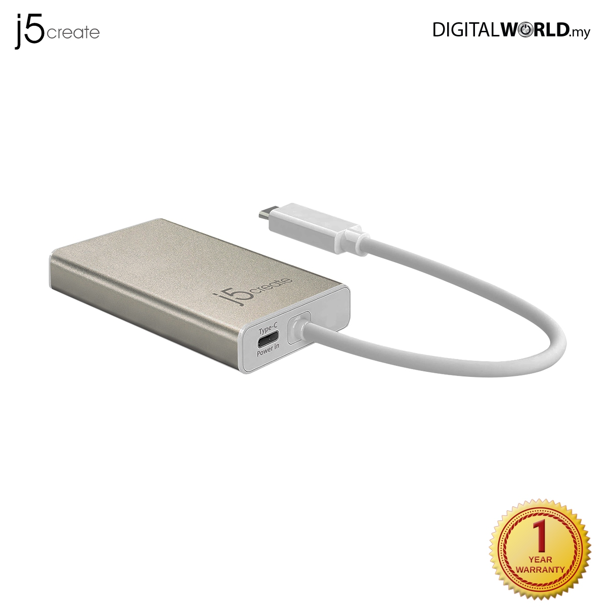 J5 Create Jca374 Usb Type-C To Hdmi/Ethernet/Usb3 0 Hub/Pd 2 0 Multi Adapter