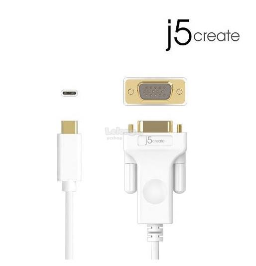 J5 Create USB Type-C TO VGA CABLE 1.8M (JCC111)