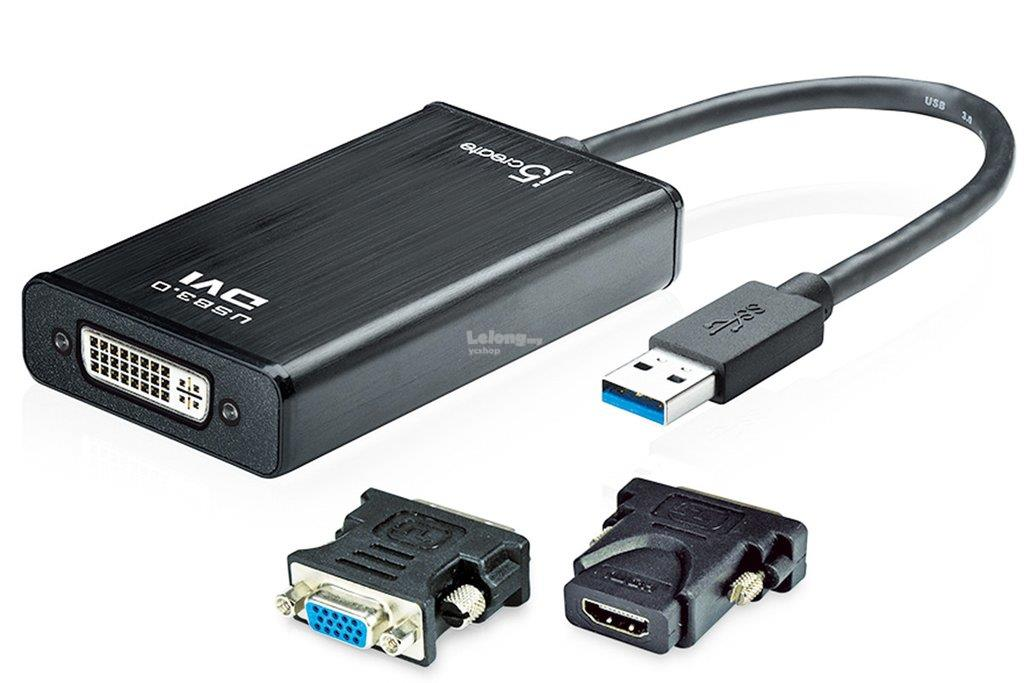 J5 Create USB3.0 to DVI + VGA + HDMI Adapter (JUA330U)