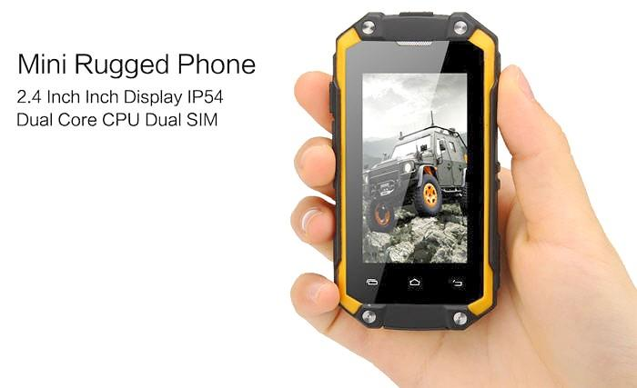J5 Dual Sim Waterproof Mini Rugged 3g Smartphone Wp 9733