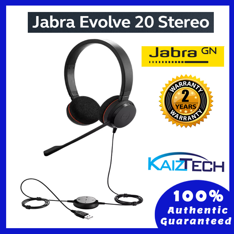 Jabra Evolve 20 MS Stereo Professional Wired Headset