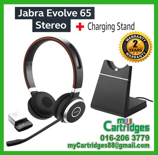 Jabra Evolve 65 MS Stereo Wireless Bluetooth Headset + Charging Stand