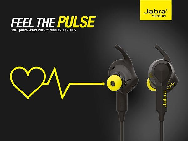 Jabra Sport Pulse Bluetooth Headphones (Genuine)