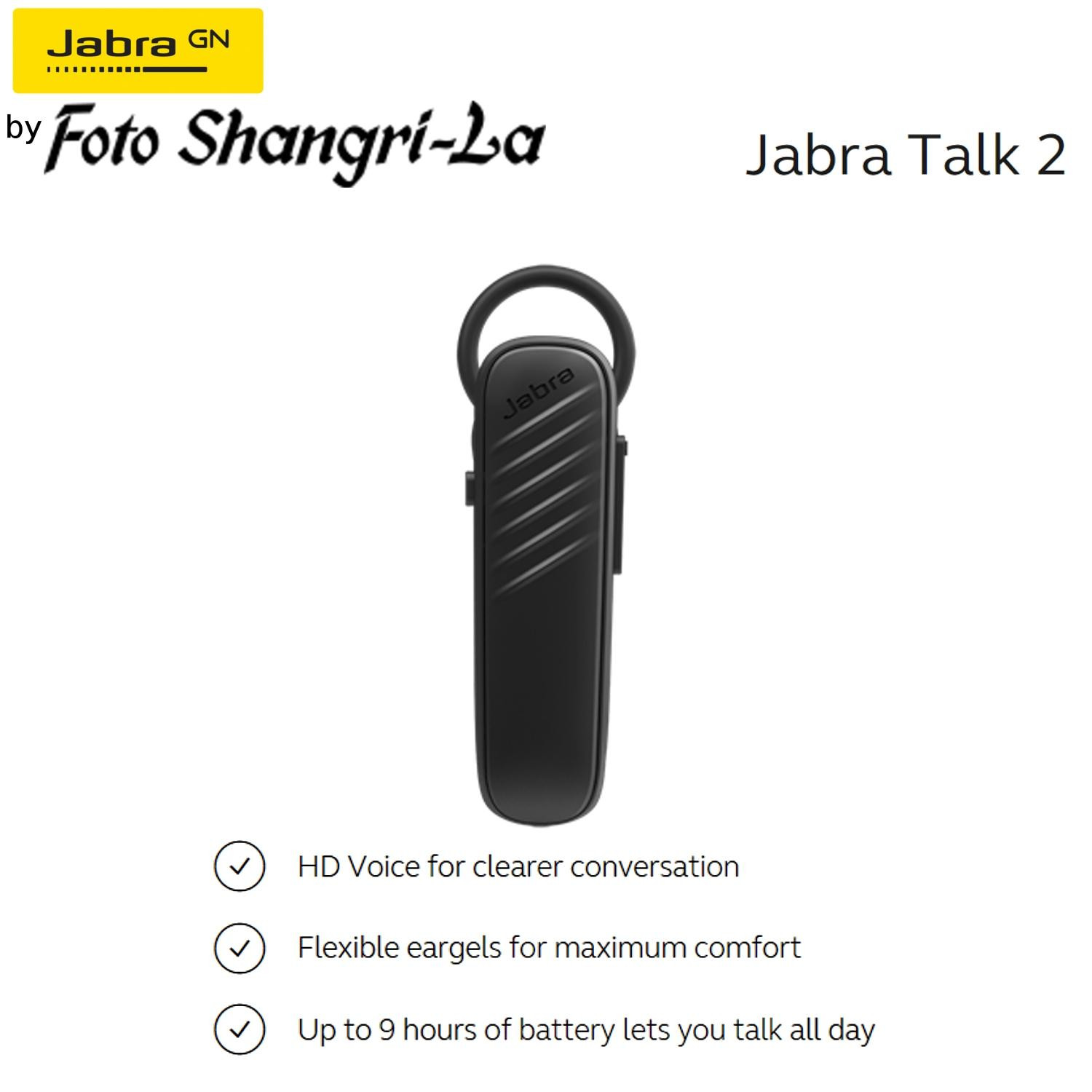 Jabra Talk 2 Voice Mono Bluetooth Headsets Wireless Headphone Earphone In Ear