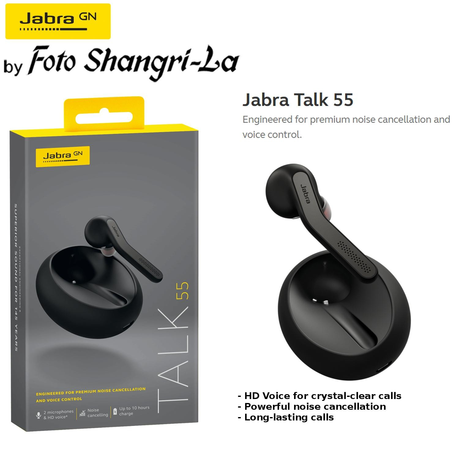 Jabra Talk 55 Mono Headphones Headset Powerful Noise Cancellation HD Voice Cal