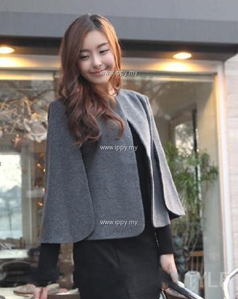 Jacket- MY7748 Short Woolen cape Coa (end 5/10/2015 3:11 PM)