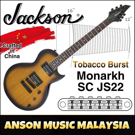 Jackson JS Series Monarkh SC JS22 Electric Guitar, Tobacco Burst