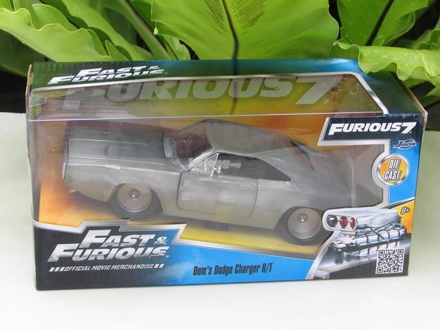 Jada 1/24 Dom's Dodge Charger RT Fast & Furious 7 (Bare Metal) #97336