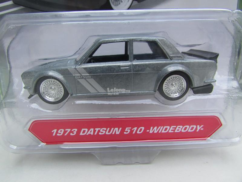JADA 1/64 Diecast Car JDM Tuners 1973 DATSUN 510 -WIDEBODY (Grey)