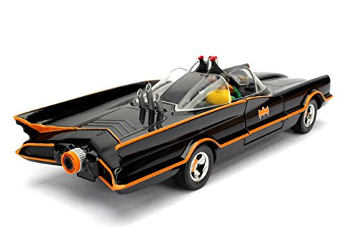 Jada Toys DC Comics 1966 Classic TV Series Batmobile with Batman and Robin fig
