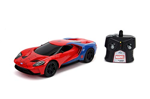 JADA Toys Marvel Spider-Man 2017 Ford GT R/C, 1: 16 Scale with USB Charging, 2