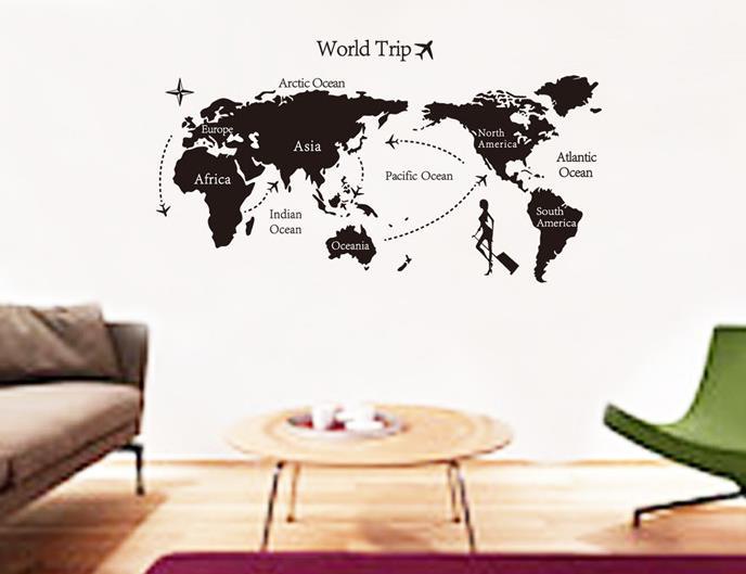 Jadegourd world map wall sticker w60 end 2262019 956 am jadegourd world map wall sticker w6092 gumiabroncs Choice Image