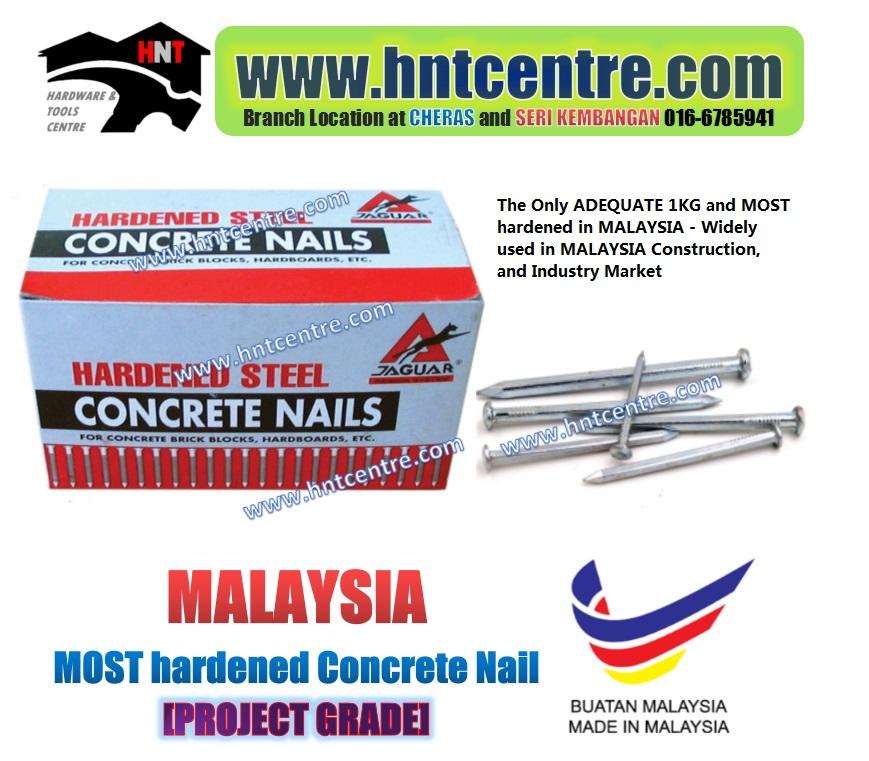 JAGUAR Hardened steel concrete nails (1kg per box)