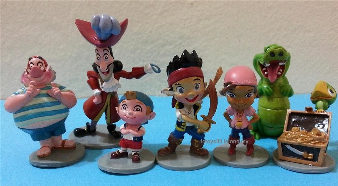 Jake and the Neverland Pirates Cake Topper Figurine (7pc in 1). New