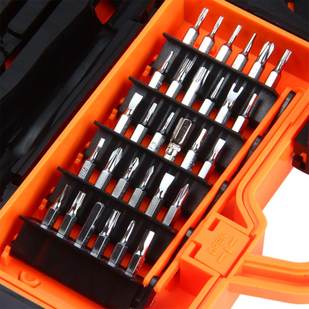 JAKEMY JM-8139 45 IN 1 MULTI BIT SCREWDRIVER KIT WITH SPUDGER TWEEZERS..