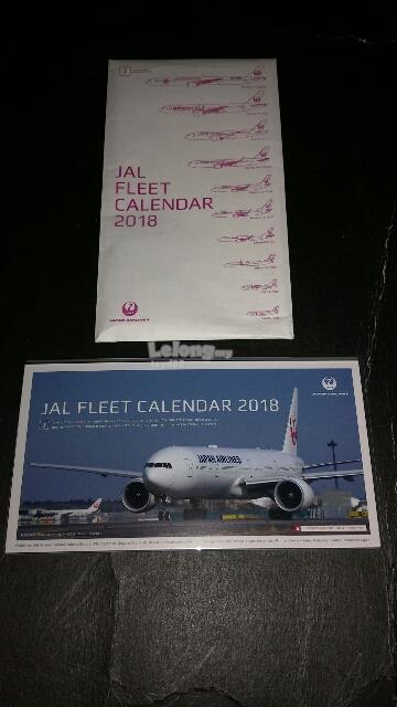 JAL JAPAN AIRLINES FLEET CALENDAR 2018