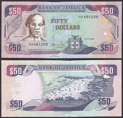 Jamaica 2004 Fifty 50 Dollars P83b UNC