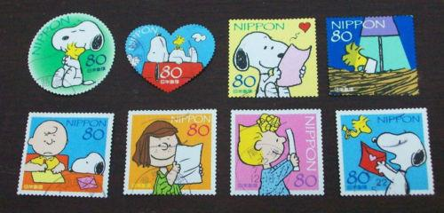 Japan 2010 G38 SNOOPY Stamps 8v USED