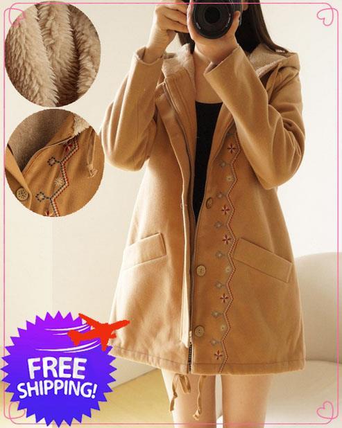 Japan Design Women Lady Hooded Wool K End 9 1 2019 114 AM