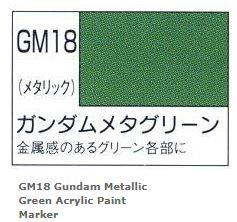 Japan GSI Creos Mr Hobby Gundam Marker Meta Metallic Green GM18