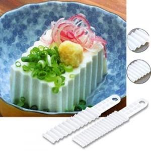 Japan SANADA Wave Shape Toufu Knife (2pcs)
