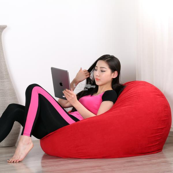 Japanese Style Fluffy Gossamer Comfy Velvet Fabric Bean Bag