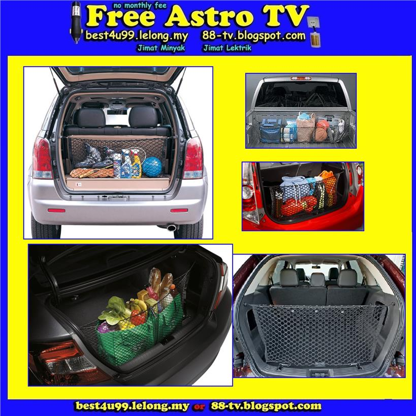 Jaring Rear Cargo RV Trunk Net MPV SUV universal saloon sedan Car van