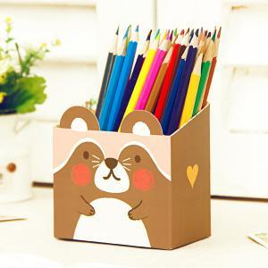 Jaron DIY Cute Animal Table Storage Box (Coffee)