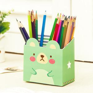 Jaron DIY Cute Animal Table Storage Box (Green)