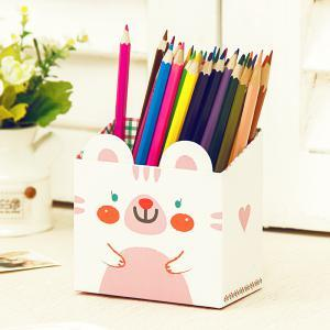 Jaron DIY Cute Animal Table Storage Box (White)