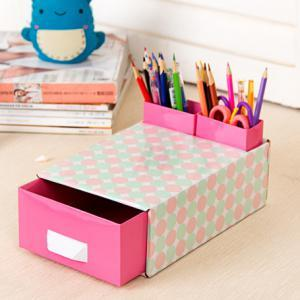 Jaron DIY Table Drawer Box + 2 Pencil Case