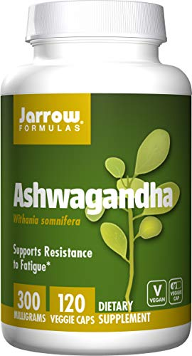 Jarrow Formulas Ashwagandha 300 mg, Supports Resistance to Fatigue, 120 Veggie