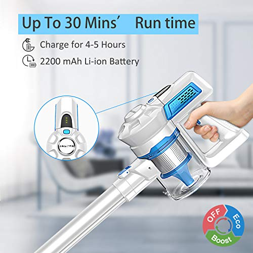 JASHEN Cordless Stick Vacuum, Powerful Stick Vacuum Cleaner Lightweight Handhe