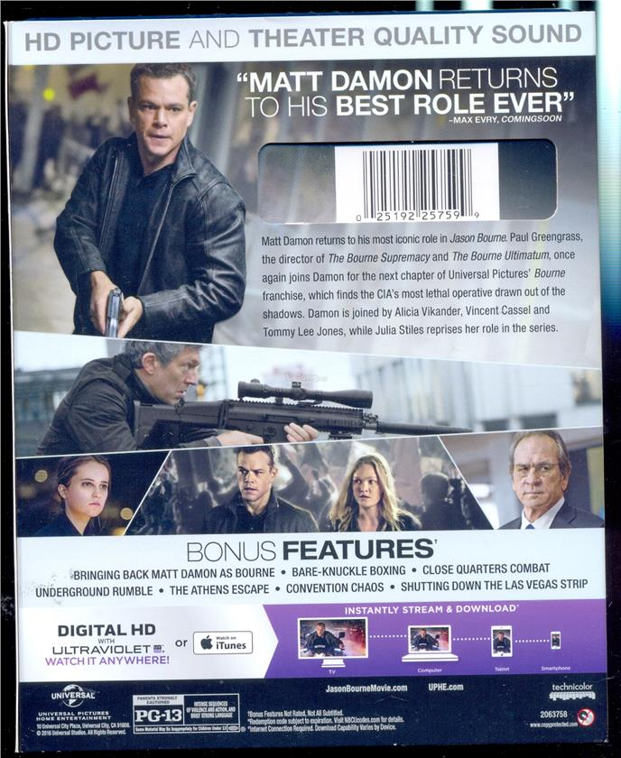 Jason Bourne - New Blu-Ray