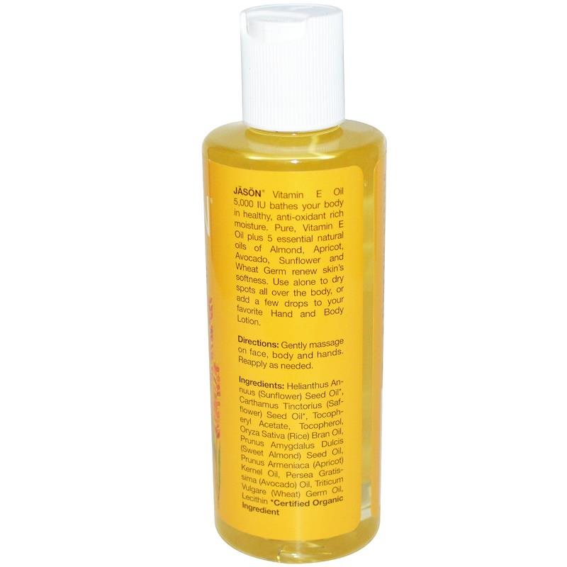 Jason Natural, Vitamin E Oil, 5000 I.U. (118 ml)
