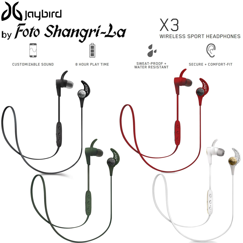 0b6de23ba26 JayBird X3 Wireless Bluetooth In-Ear Sport Earphone Headphones Sweat Proof.  ‹ ›