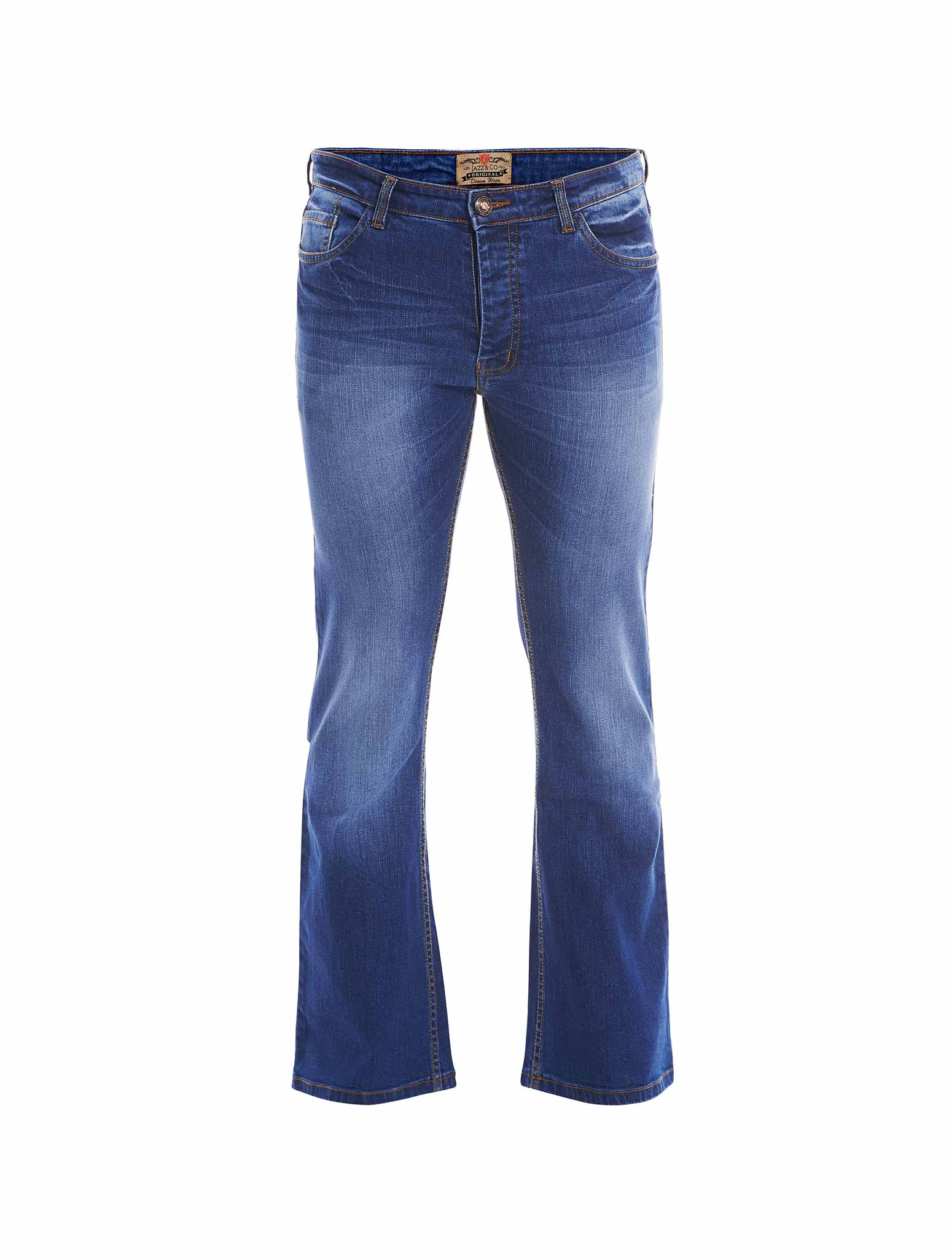 Jazz & Co Men Standard Size indigo mid-rise jeans