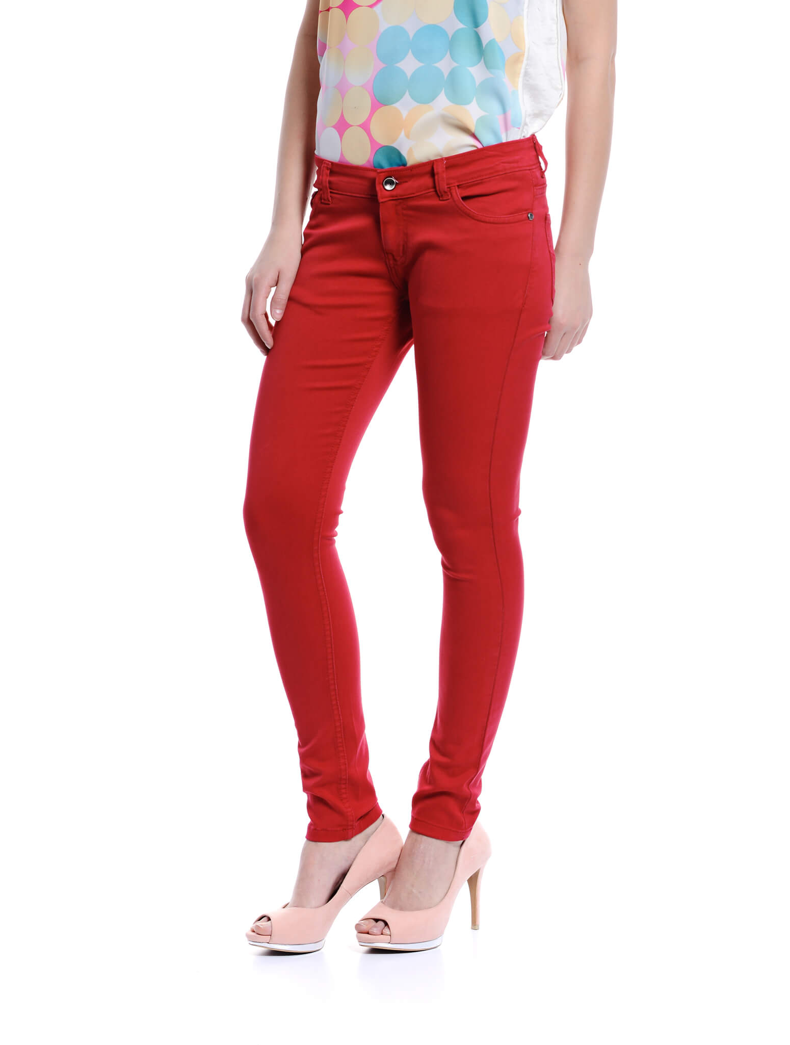 Jazz & Co Women Standard Size red mid-rise jeans