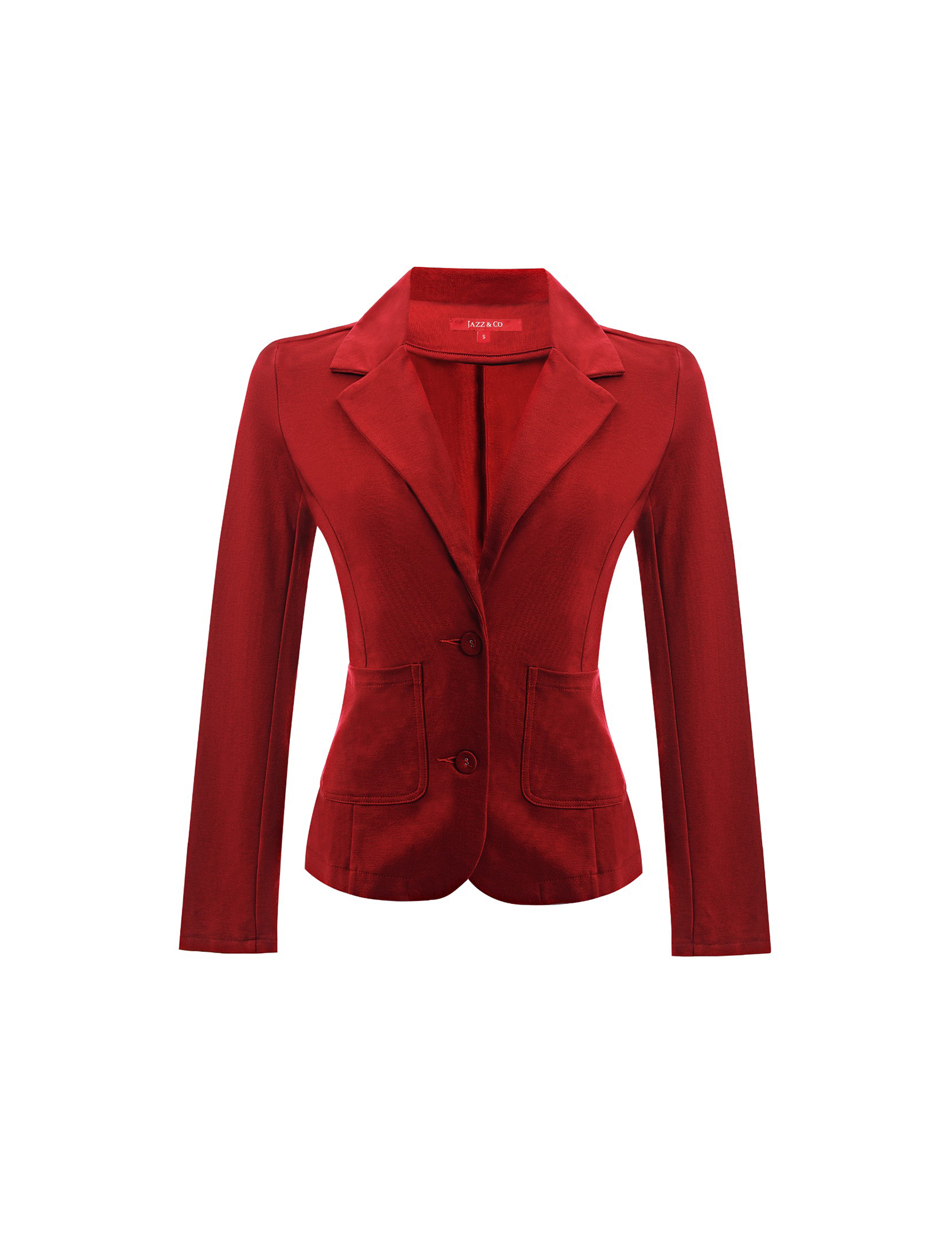 Jazz & Co Women Standard Size red waistcoat stylish outerwear