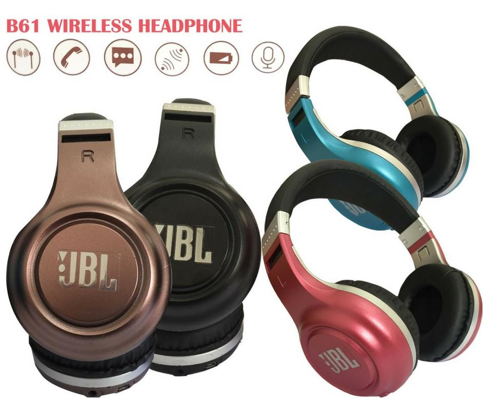 JBL B61 Rechargeable Wireless/ Bluetooth/ AUX Headphone/ Headset